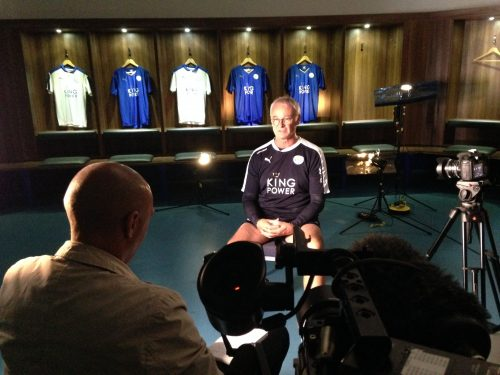 Interviewing Ranieri at the start of Leicester's adventure.